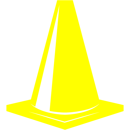 Yellow Traffic Cone Icon