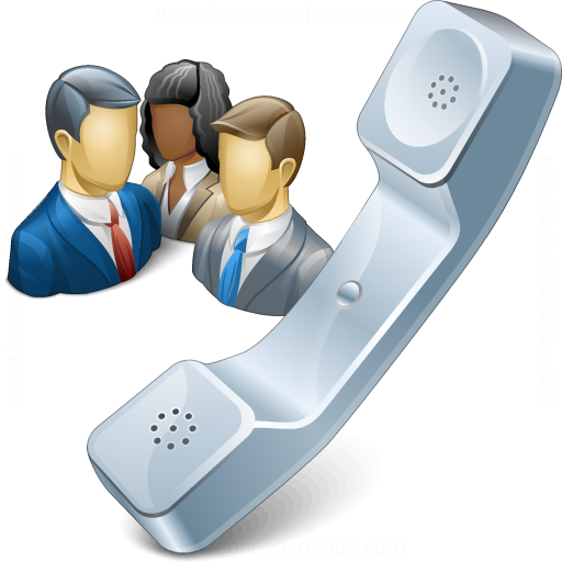 Iconexperience V Collection Phone Conference Icon