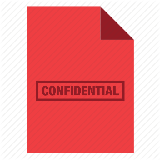 Confidential, Document, File, Top Secret Icon