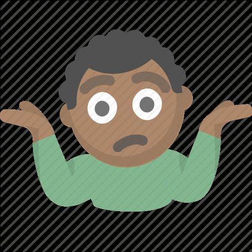 Confused, Emoji, Guy, I Dont Know, Idk, Person, Shrug Icon