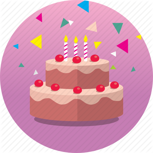 Birthday, Cake, Celebrate, Congrats, Gift, Happy, Party Icon