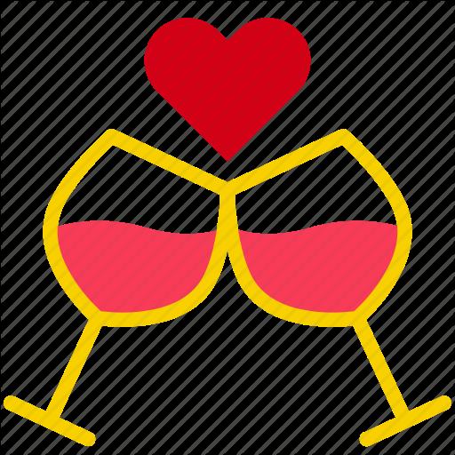 Celebrate, Congrats, Drink, Love, Valentine Icon