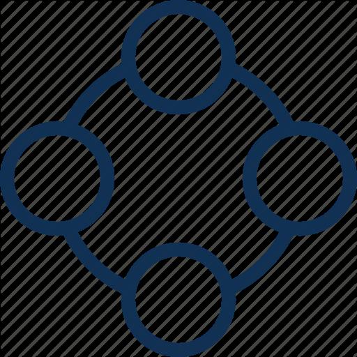 Circle, Connection, Webui Icon