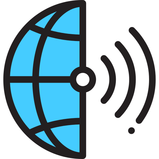 Earth Globe Wireless Connectivity Png Icon
