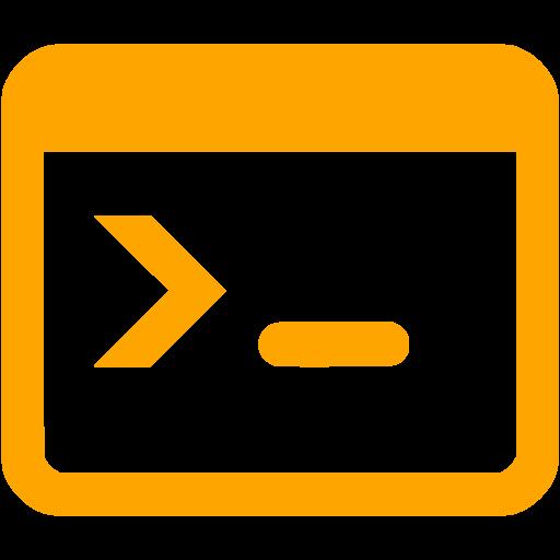 Orange Console Icon