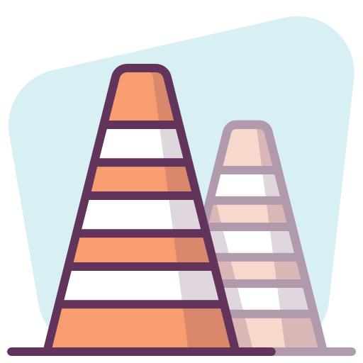 Construction, Protection, Cones Icon Free Of Protection
