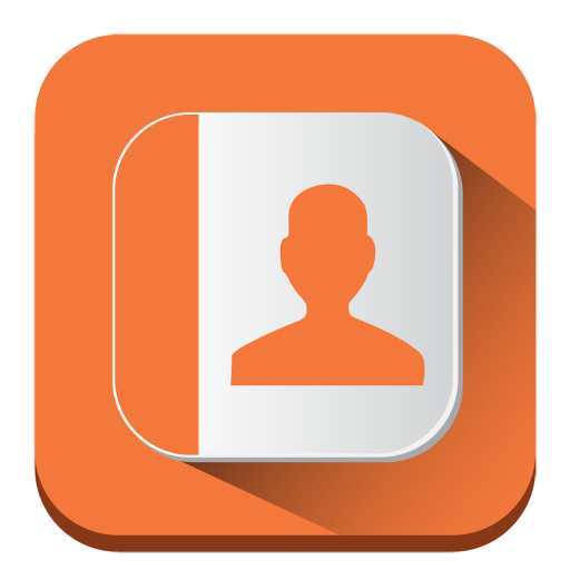 Contacts Icon Long Shadow Iconset Pelfusion