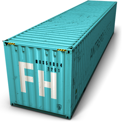 Blue Cargo Container Icon