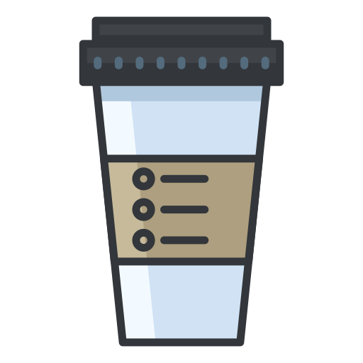 Coffe Container Icon Free Of Free Filled Outline