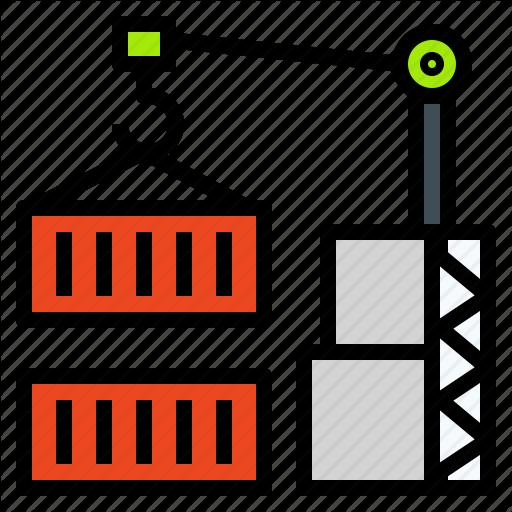 Container, Crane, Holder, Lift, Logistics, Port Icon