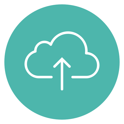 Arrow, Up, Cloud, Upload, Circle, Content Icon