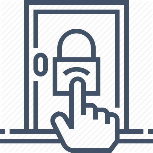 Access, Control, Door, Lock, Protection, Security Icon