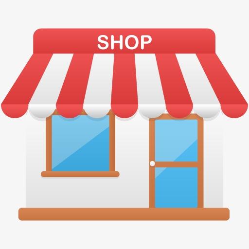 Flat Shop, Shop Clipart, Store, Convenience Store Png Image
