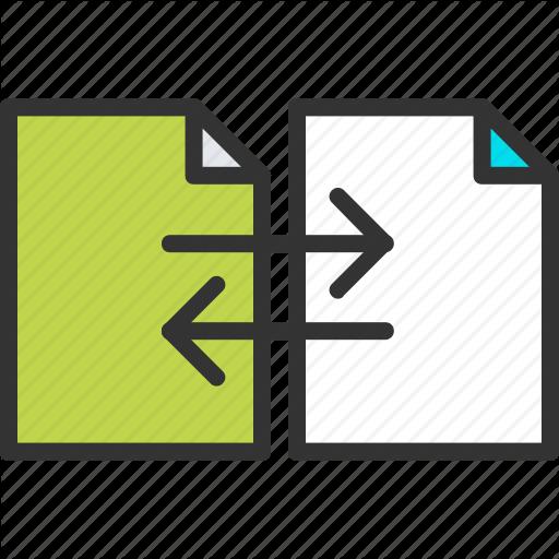 Arrow, Convert, Document, Exchange, File, Share, Swap Icon