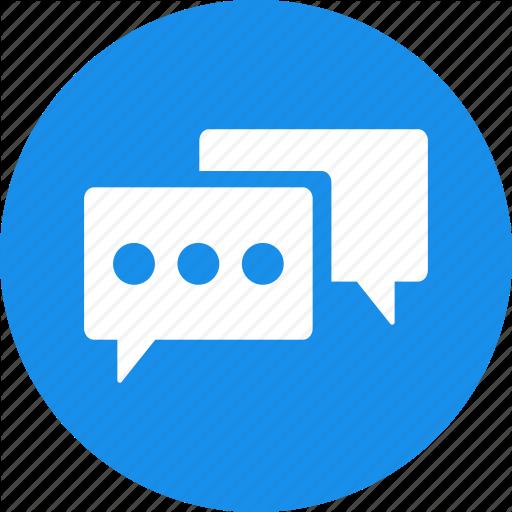 Advice, Blue, Chat, Circle, Communication, Conversation Icon