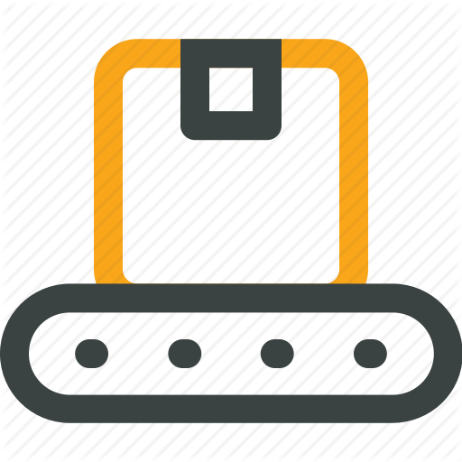 Box, Conveyor Belt, Crate, Delivery, Logistics, Warehouse Icon Icon
