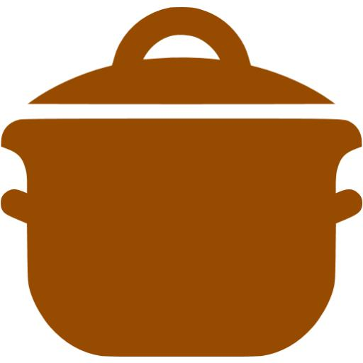 Brown Cooking Pot Icon