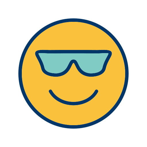 Cool, Emoticon, Face, Smiley Icon Free Of Emoticons Filled Two