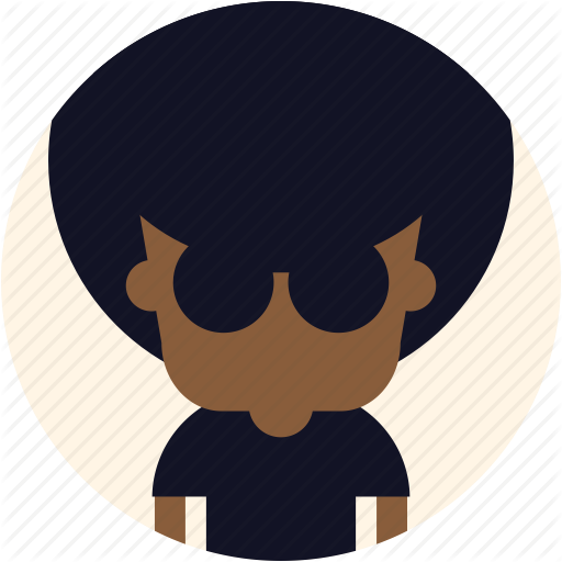 Afro, Avatar, Cool, Guy, Man, User Icon