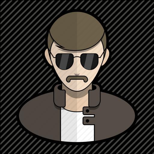 Avatar, Cop, Mustache, Police, Profile, Shades, User Icon