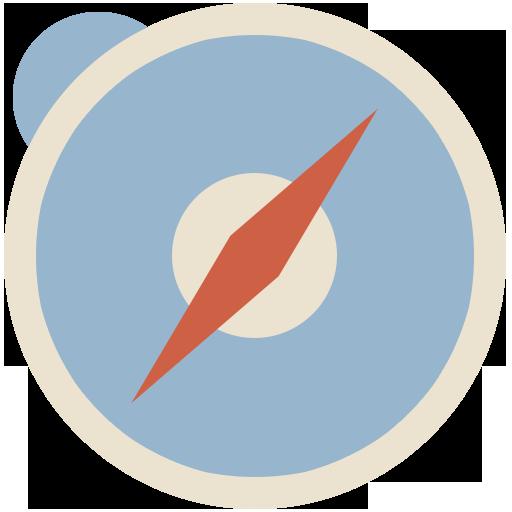Safari Icon Flat Retro Modern Iconset Grafikartes