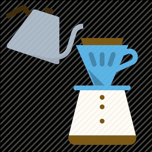 Brew, Coffee, Copper, Drip, Over, Paper, Pour Icon