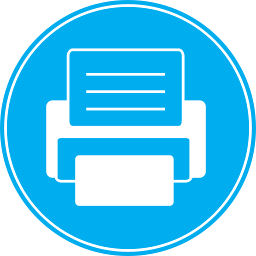 Blue Fax Icon Images