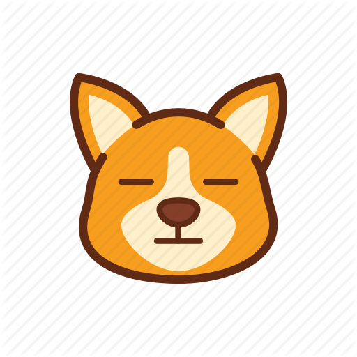 Corgi, Cute, Dog, Emoticon, Expression, No Face Icon