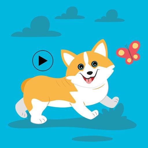 Cute Corgi Animated Emojis