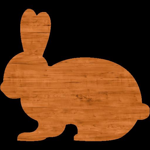 Seamless Wood Rabbit Icon