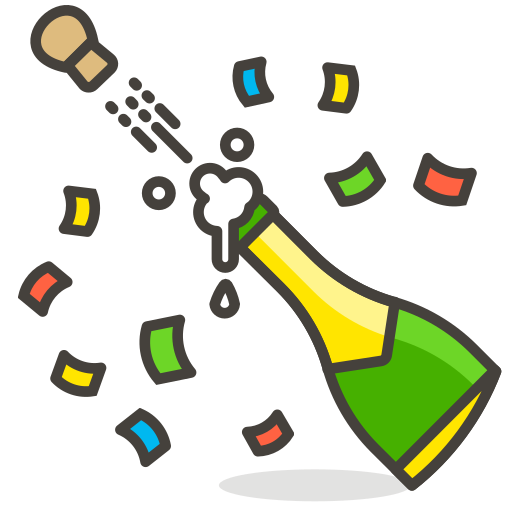 Bottle, With, Popping, Cork Icon Free Of Free Vector Emoji