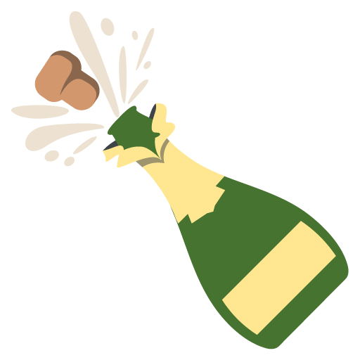 Bottle With Popping Cork Emoji Vector Icon Free Download Vector