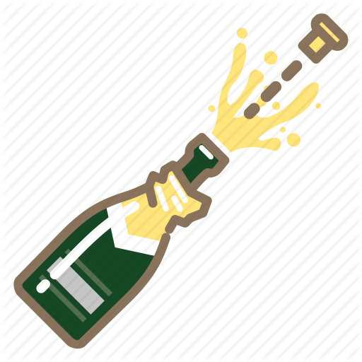 Champagne, Cork, Popping Icon
