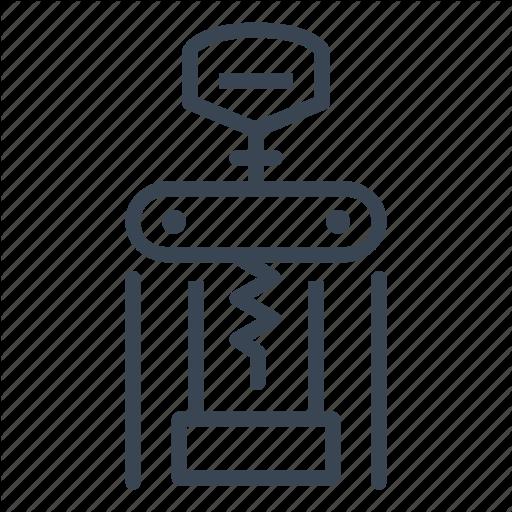 Bottle, Corkscrew, Opener, Wine Icon