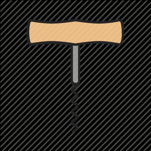Corkscrew, Kitchen, Wine Icon