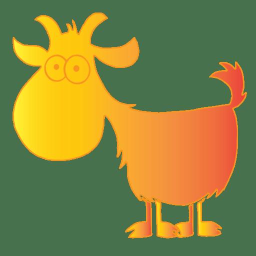 Cropped Orange Yoga Goat Corner Icon Goat Arizona