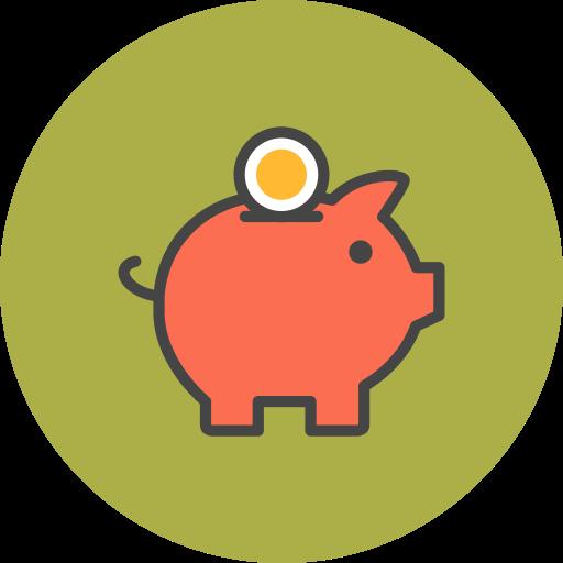 Money, Pig Icon Free Of Flat Line Ecommerce