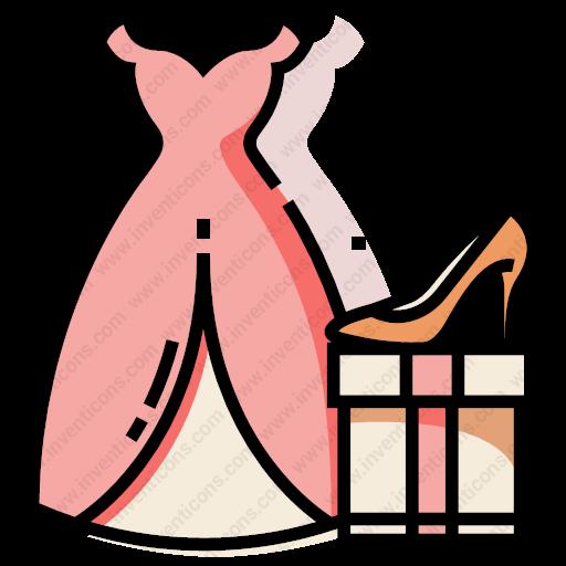 Download Bride,costume,set Icon Inventicons