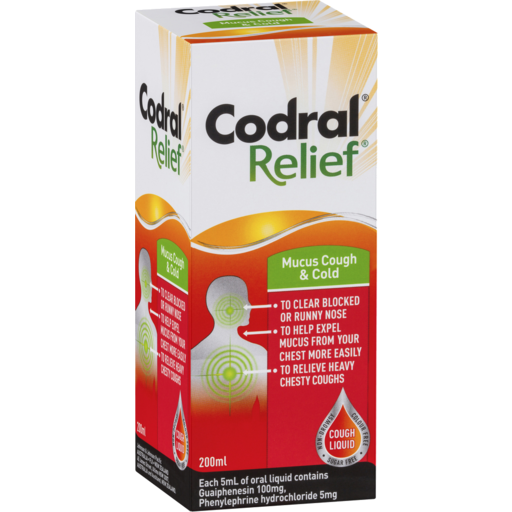 Codral Relief Mucus Cough Cold Liquid
