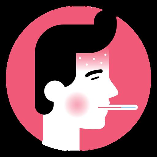 High Fever Sickness Symptom Icon