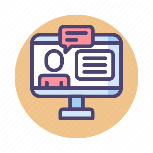 Counseling, Online, Online Counseling, Online Course Icon