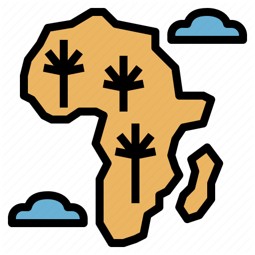 Africa, Country, Nation, World Icon