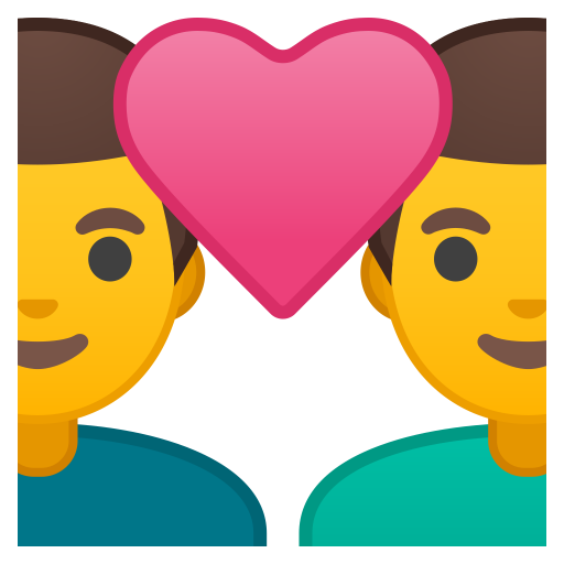 Couple With Heart Man Man Icon Noto Emoji People Family Love