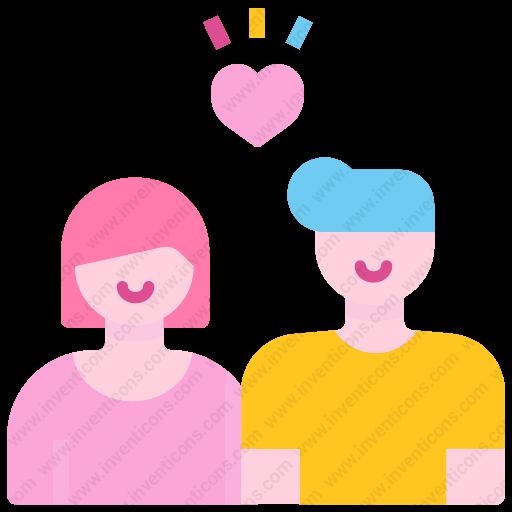 Download Lover,couple Icon Inventicons