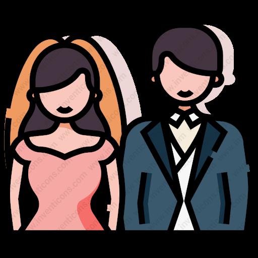Download Wedding,couple Icon Inventicons