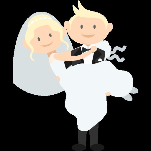 Romantic, Bride, Groom, People, Wedding Couple Icon