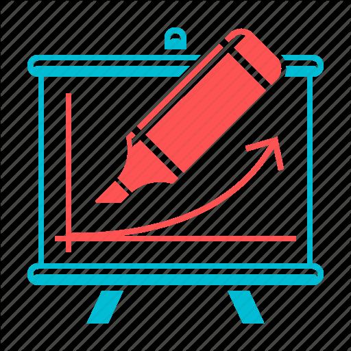 Chart, Courses, Diagram, Flipchart, Graph, Presentation, Training Icon