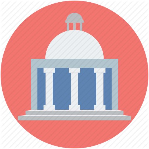 Building, Court, Court Of Law, Courthouse, Courtroom, Law Court Icon