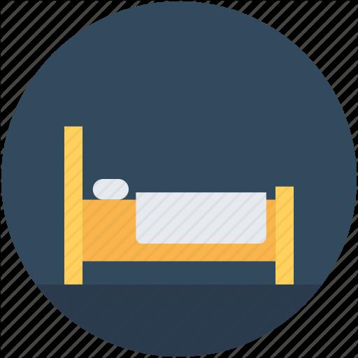 Bed, Bedroom, Hotel Room, Single Bed, Sleep Icon