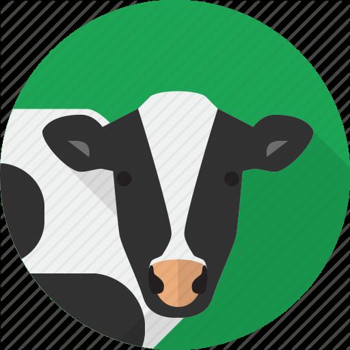 Agriculture, Animal, Cow, Farm Icon